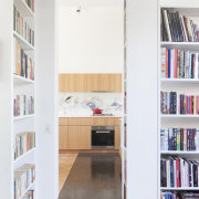 Architect: Steffen Welsch ArchitectsPhotography by Shannon McGrath bookcase, furniture, interior design, library, shelf, shelving, white
