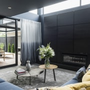TIDA NZ 2017 – Designer new home winner architecture, home, house, interior design, living room, real estate, window, black, gray