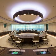 Eurojust - auditorium | ceiling | conference hall auditorium, ceiling, conference hall, interior design, brown