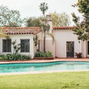 Original story from Trulia backyard, cottage, estate, facade, hacienda, home, house, leisure, mansion, property, real estate, residential area, resort, swimming pool, villa, white
