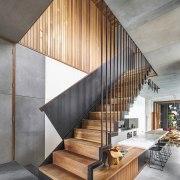 CplusC Architectural Workshop architecture, handrail, house, interior design, stairs, wood, gray