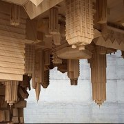 The wave city coffee table - The wave ancient history, architecture, column, structure, temple, wood, brown
