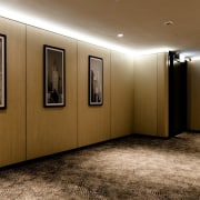 Hotel Ease ceiling, floor, flooring, interior design, lobby, brown