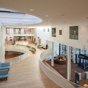 Zaans Medical Centre – Mecanoo - Zaans Medical daylighting, floor, flooring, interior design, lobby, real estate, gray