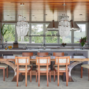 Luxurious welcome – this individualistic kitchen by Bristol dining room, furniture, interior design, table, gray