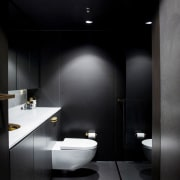 Architect: Architect Prinea - X - architecture | architecture, bathroom, bidet, ceiling, daylighting, floor, interior design, plumbing fixture, product design, room, sink, toilet, black