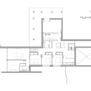Estrade Residence – plan - Estrade Residence – architecture, area, black and white, design, diagram, drawing, elevation, floor plan, home, house, line, plan, product design, schematic, structure, white