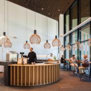 Zaans Medical Centre – Mecanoo - Zaans Medical furniture, interior design, lobby, table, gray