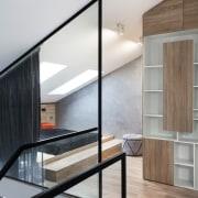 Architect: Martin ArchitectsPhotography by Alexander Kondrianenko architecture, daylighting, glass, handrail, house, interior design, stairs, gray