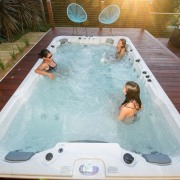 Galaxy Swim Spas - Galaxy Swim Spas - bathtub, hot tub, jacuzzi, leisure, swimming pool, gray