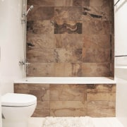 Architect: Martin ArchitectsPhotography by Alexander Kondrianenko bathroom, floor, flooring, interior design, plumbing fixture, room, tile, wall, white, brown
