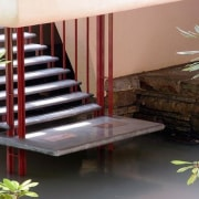 Wright's admiration for Japanese architecture was important in property, real estate, stairs, black