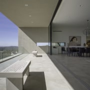 This space opens right up to the desert architecture, daylighting, floor, house, interior design, gray