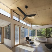 This designer fan draws the eye - This architecture, ceiling, daylighting, house, interior design, lighting, living room, real estate, window, gray, brown