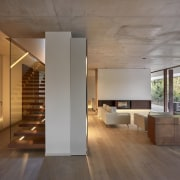 Architect: Ramón Esteve Estudio de Arquitectura architecture, ceiling, daylighting, floor, flooring, hardwood, house, interior design, laminate flooring, loft, stairs, wood, wood flooring, gray, brown