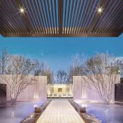 Vanke Park Mansion 'True Love' – FLOscape Landscape architecture, building, daylighting, estate, house, landmark, lighting, property, real estate, sky, tourist attraction, teal, black
