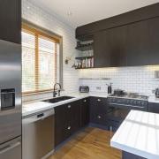 TIDA NZ 2017 – Designer kitchen entrant – cabinetry, countertop, cuisine classique, interior design, kitchen, property, real estate, room, black, white