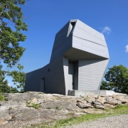 Observatory or rock formation? - Observatory or rock architecture, building, cottage, home, house, hut, real estate, sky, blue