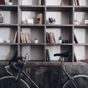 Photo by Roman Mager on Unsplash bookcase, furniture, shelf, shelving, black, gray