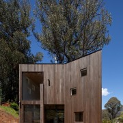 Architect: Steffen Welsch Architects architecture, cottage, facade, home, house, real estate, shack, shed, siding, tree, wood, black