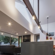 Architect: Blue Giraffe StudioPhotography by md photography architecture, ceiling, daylighting, interior design, lobby, gray