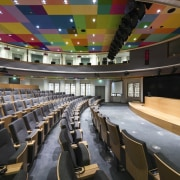 This new headquarters for the European Union Council auditorium, conference hall, convention center, performing arts center, sport venue, theatre, black