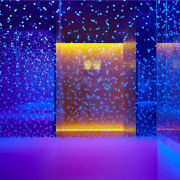 The blue and orange fill the room blue, cobalt blue, computer wallpaper, electric blue, light, majorelle blue, purple, violet, blue