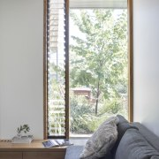 Airflow is no problem in this home architecture, daylighting, door, home, house, interior design, real estate, room, sash window, window, window covering, window treatment, wood, gray, white