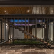 Colima home/Di Frenna Arquitectos architecture, lobby, black, brown