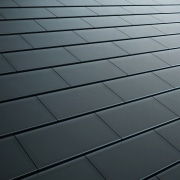 Tesla Solar Roof tiles - Tesla Solar Roof angle, daylighting, floor, light, line, material, road surface, sky, texture, wood, gray, black