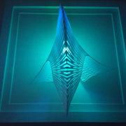 Designed by Margot Krasojevic aqua, graphics, line, symmetry, turquoise, teal