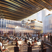 Central courtyard with orchestra. - Impressive development is