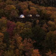 Dome 3 aerial photography, autumn, biome, deciduous, forest, hill, landscape, leaf, morning, nature, plant, rural area, sky, temperate broadleaf and mixed forest, tree, wilderness, woody plant, brown, black