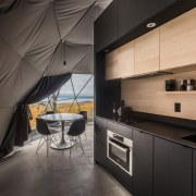 Dome 5 architecture, ceiling, countertop, interior design, kitchen, black, gray