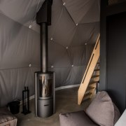 Dome 9B architecture, ceiling, floor, house, interior design, room, wall, black, gray