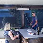 Calido Screens make entertaining outdoors much less stressful house, window, blue, gray