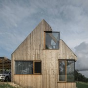 Larch was the cladding of choice -
