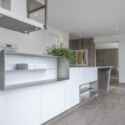 Contemporary Kitchen & Bar by Celia Visser - architecture, countertop, floor, interior design, kitchen, real estate, gray, white