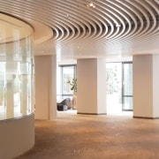 Koda 3 - architecture | building | ceiling architecture, building, ceiling, daylighting, floor, flooring, glass, hall, interior design, lobby, property, room, gray