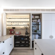 The kitchen always looks its best with everything white