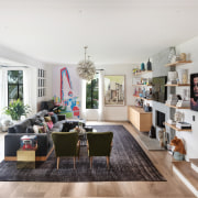 The airy, light-filled revamped living room in the