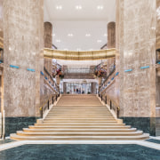 Photo by Delfino Sisto Legnani and Marco Cappelletti architecture, building, column, floor, interior design, lobby, room, stairs, gray