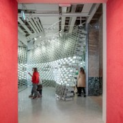 Photo by Michel Florent - Discover BIG's retail architecture, building, interior design, red, room, red, gray
