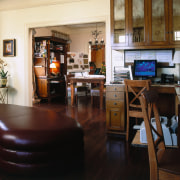 view of the living room that doubles as furniture, interior design, living room, room, table, black