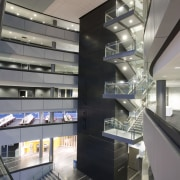 interior view of the Owen G Glenn Building architecture, building, ceiling, daylighting, glass, interior design, lobby, gray, black