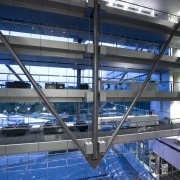 interior view of the Owen G Glenn Building architecture, building, daylighting, leisure centre, structure, blue, gray
