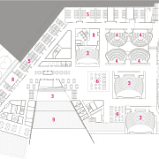 View of floor plans and elevations for the angle, architecture, area, design, diagram, floor plan, line, plan, product design, structure, urban design, white
