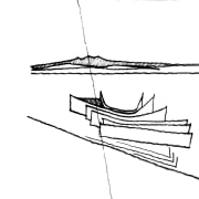 View of floor plans and elevations for the angle, black and white, design, drawing, line, line art, product design, sailing ship, watercraft, wing, white