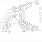 View of floor plans and elevations for the angle, architecture, area, black and white, design, diagram, drawing, elevation, floor plan, font, line, line art, plan, product design, structure, text, white
