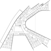 View of floor plans and elevations for the angle, architecture, area, artwork, black and white, diagram, drawing, font, line, line art, plan, product design, residential area, structure, text, urban design, white
